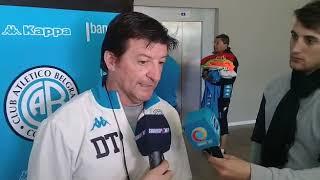 Alfredo Berti, DT de Belgrano en la pretemporada en Salsipuedes