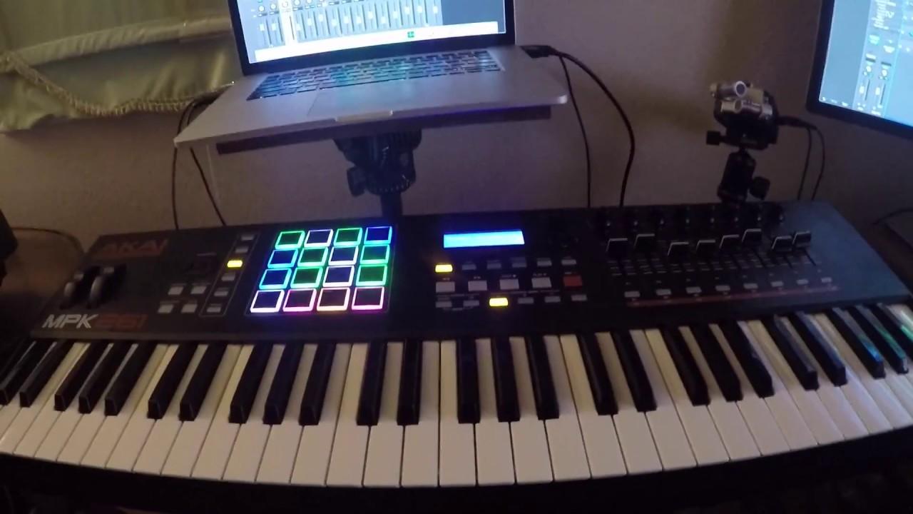 Akai MPK 261 Assign pads & keys to separate instruments Logic Pro X