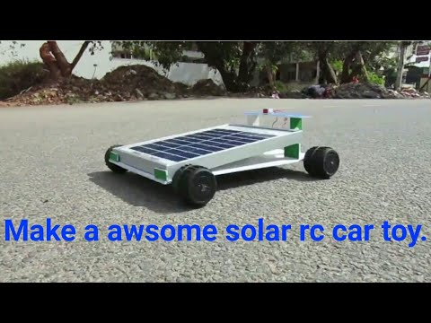 how to make solar free clean energy toys car at Home for kids rc panel HD