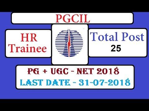 Power Grid (PGCIL) Recruitment of 25 Executive Trainees HR through UGC NET July 2018