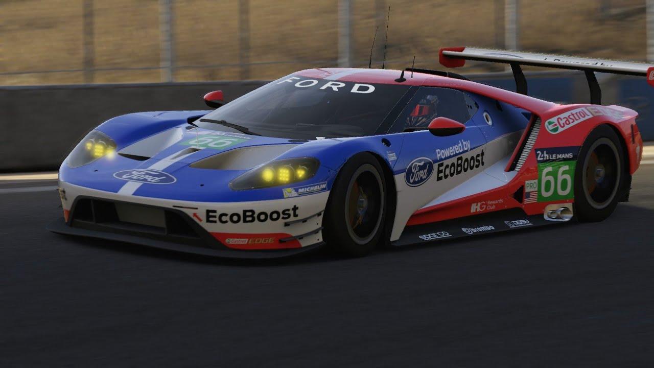 Forza  Ford Gt  Lm Race Car Mazda Laguna Seca Hot Lap