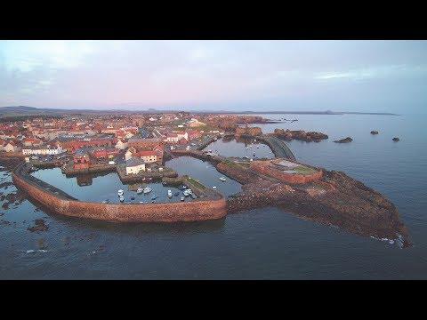 Sunrise at Dunbar harbour