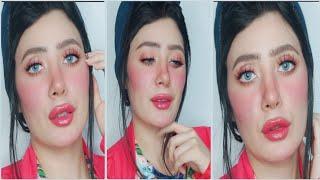 مكياج وردي ناعم ل صباحيه عروسه او موعد مع الحبيب pinky look makeup tutorial