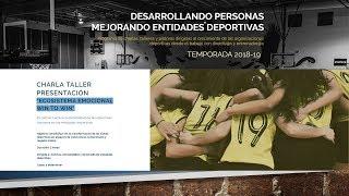 Programa de talleres y píldoras 18-19: Desarrollando personas, mejorando entidades deportivas