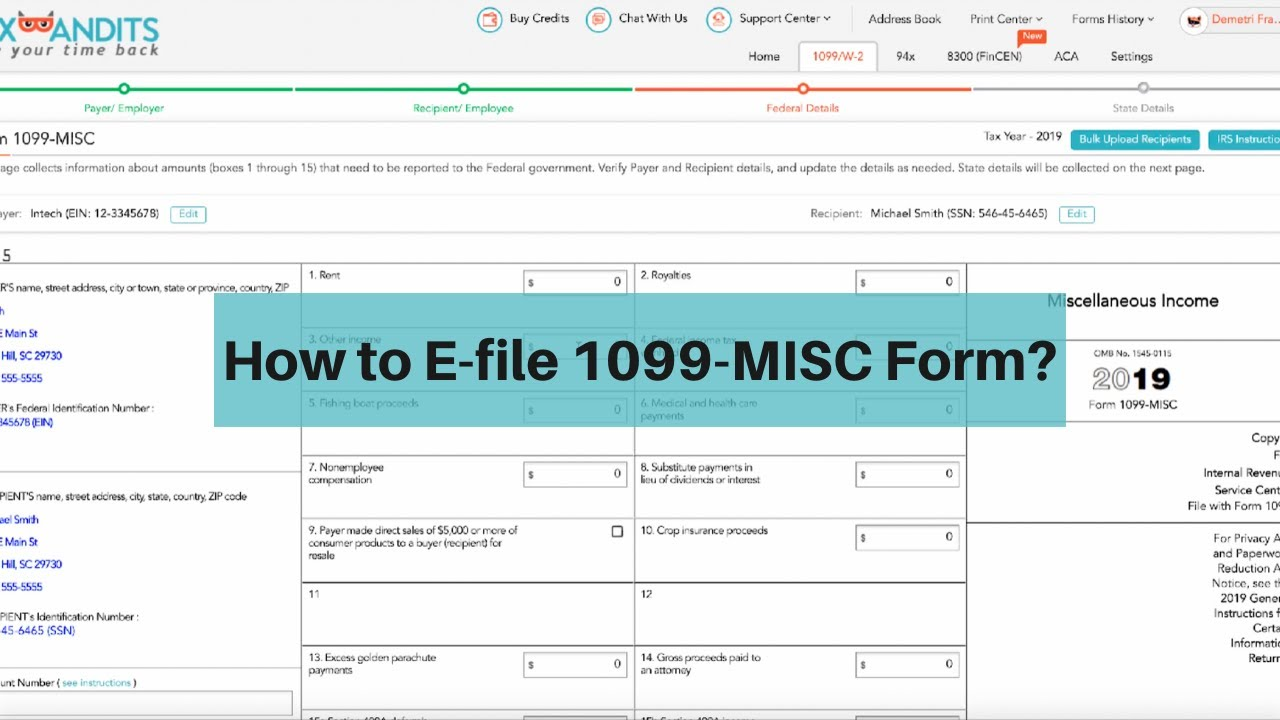 How to File Form 1099-MISC online
