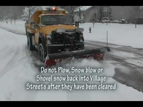 Gurnee Public Works Department: Snow Plowing and Anti-Icing Operations