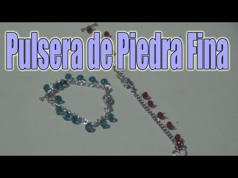 463a81997da1 Pulseras de piedra fina - Bisuteria en español - YouTube