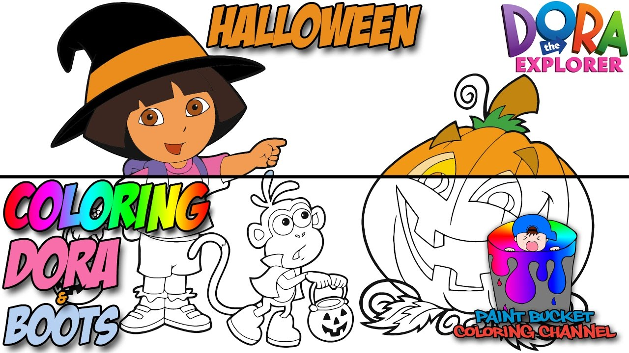 coloring pages dora halloween book - photo#32
