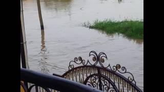 Resident Races Remote Control Speedboat as Floods Hit Saint Helena