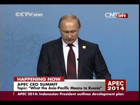 Russia president Putin delivers speech at APEC meeting