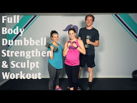 25 Minute Full Body Dumbbell Strengthen and Sculpt Workout