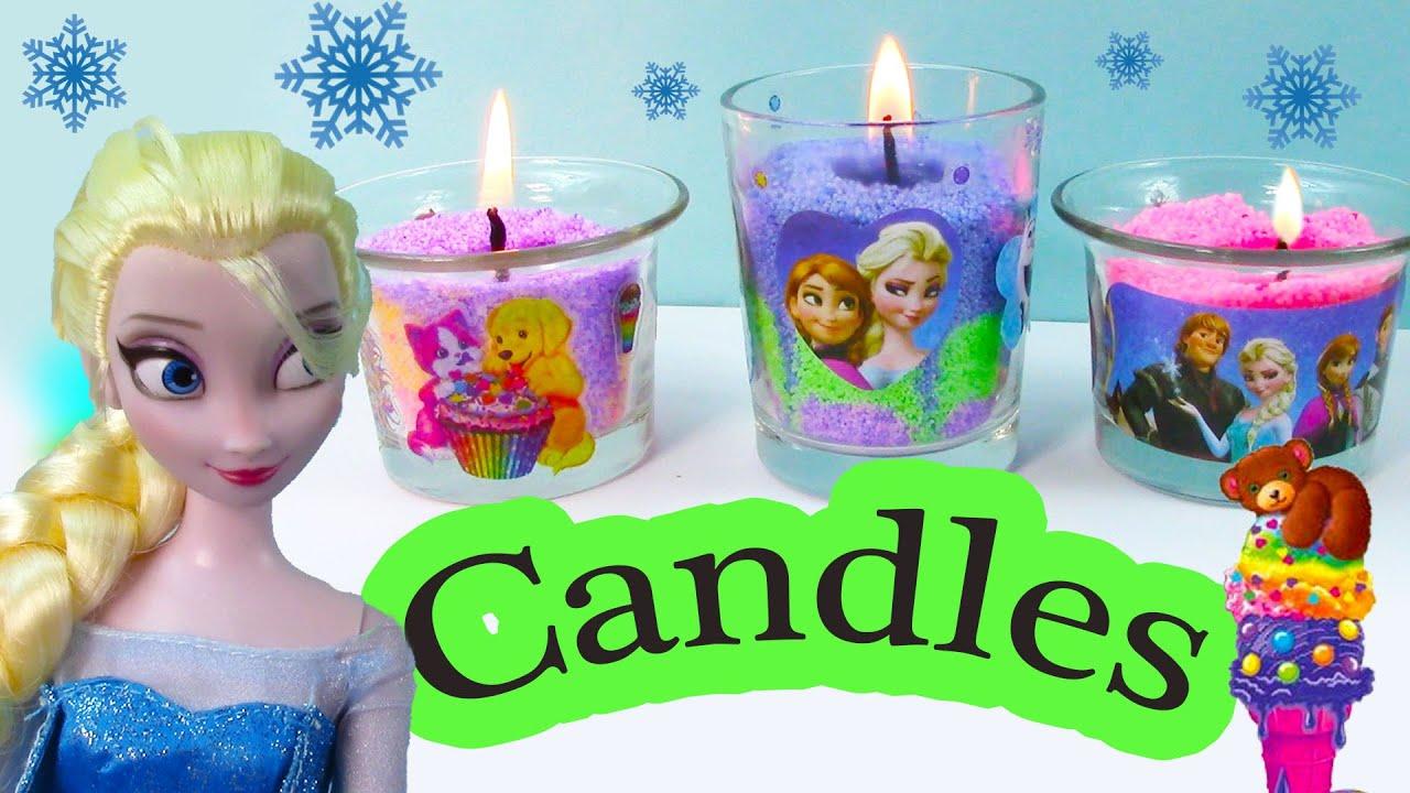 Candle Craze Maker Playset Disney Frozen Sisters Queen Elsa Princess
