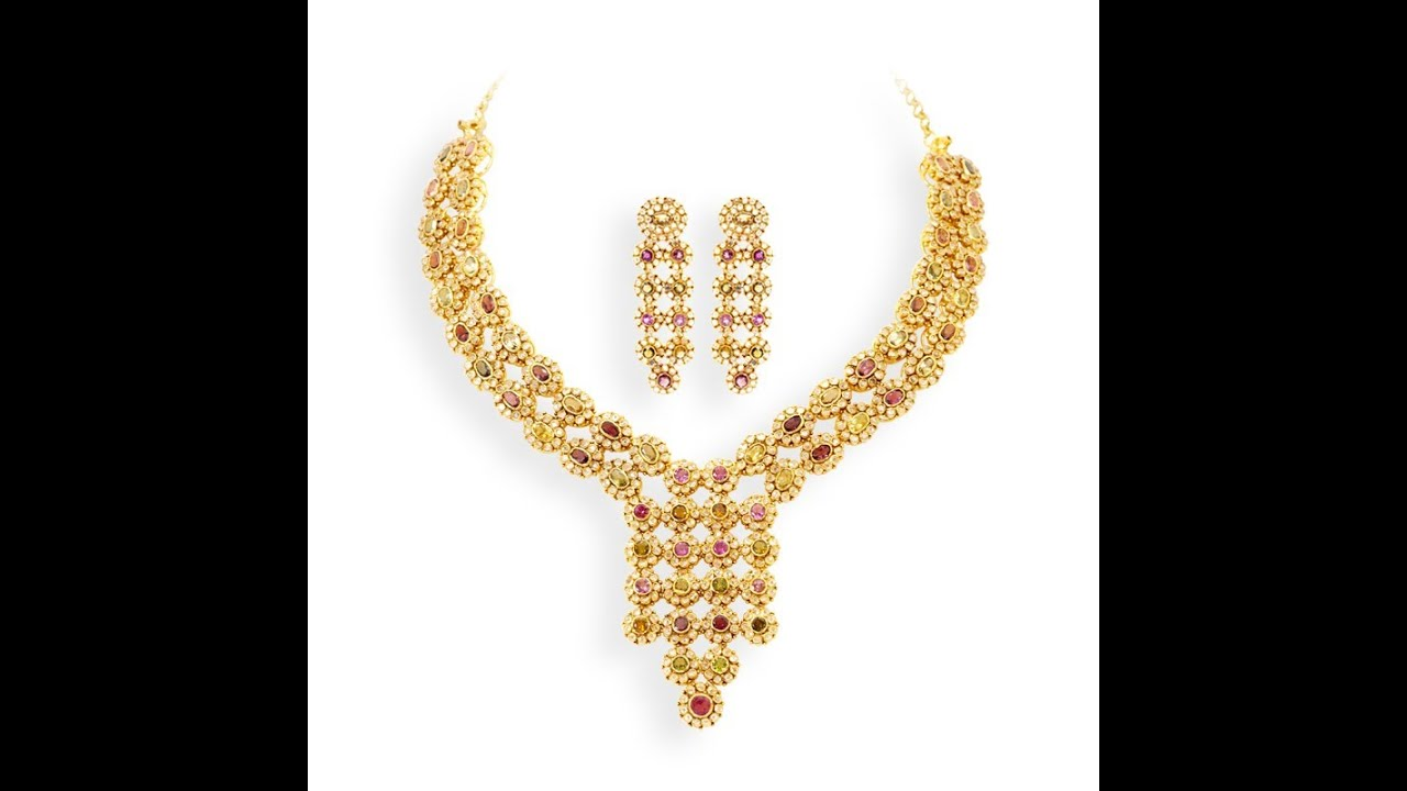latest gold necklace designs by grt   youtube