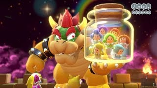 Super Mario 3D World - All Main Castle Levels (2 Player)