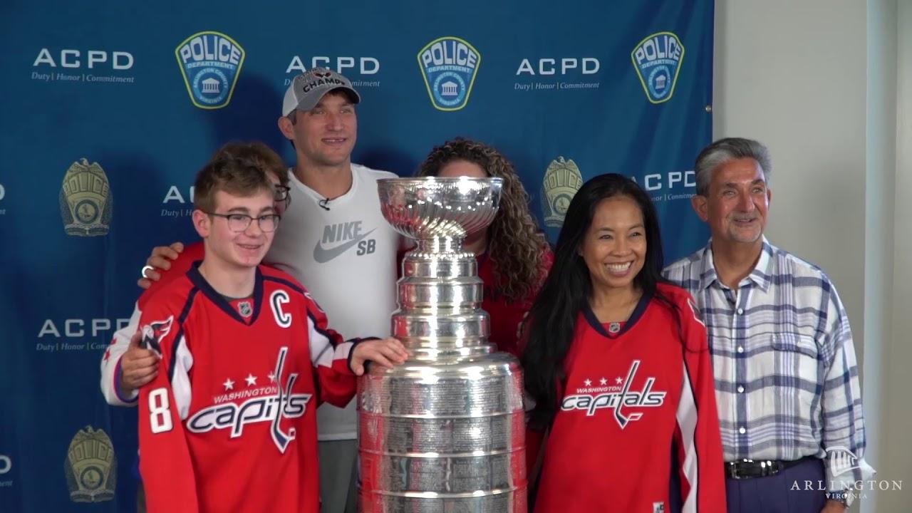 6301023a8c0 Washington Capitals Bring Stanley Cup to Arlington Police Dept ...