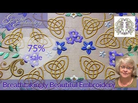 14th Birthday Breathtakingly beautiful machine embroidery sale