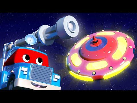 Детские мультфильмы с грузовиками - Супер грузовик Телескоп обнаружил НЛО!
