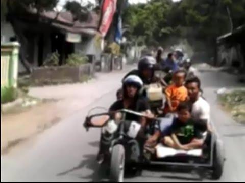 Vespa Rosok Dan Vespa Gembel Extreme Indonesia Touring Bebas Tilang