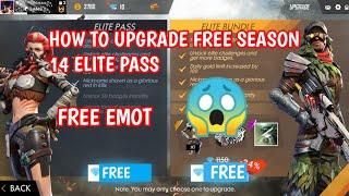 HOW TO GET FREE SEASON 14 ELITE PASS IN FREE FIRE || HOW TO GET FREE EMOTE IN FREE FIRE 100% REAL