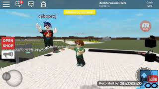 My first game of roblox with my me jor friend