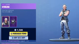 *NEW* STERLING SKIN+ SILVER SLEDGE PICKAXE Fortnite ITEM SHOP [May 1st 2019] | CuBeLightning