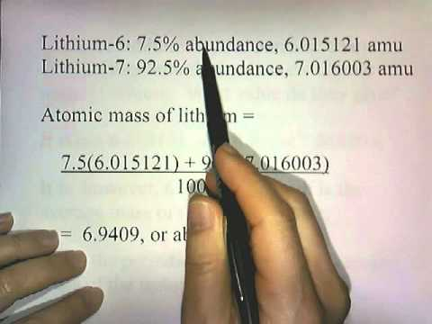 Atomic Mass Unit, Atomic Mass