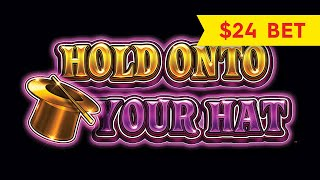 $24 BET BONUS, YES! Lock It Link Hold Onto Your Hat Slot!