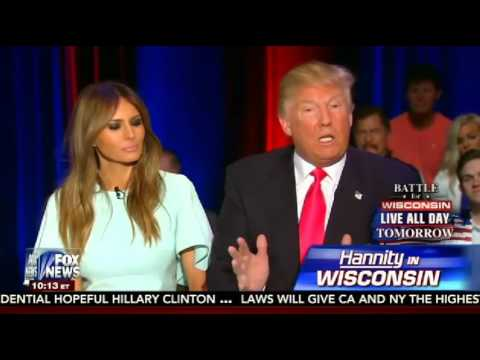 Donald Trump & Wife Melania on Sean Hannity FULL Interview   4 4 16   Fox News