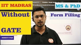 IIT Madras without GATE winter admission Hurry Up!!!