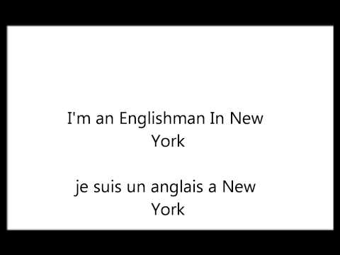 CRIS CAB-ENGLISHMAN IN NEW YORK-TRADUCTION LYRICS