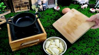 【ASMR 】How Miniature Set Cook Crispy Fried Banana