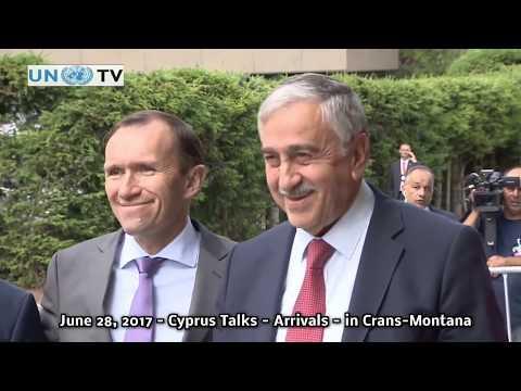 Cyprus Talks Arrivals in Crans Montana, Switzerland