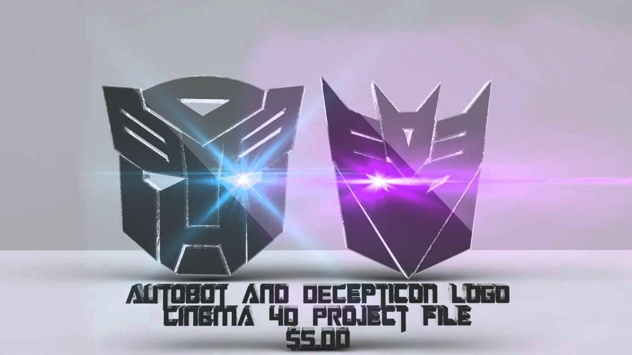 autobot decepticon logo in cinema 4d youtube