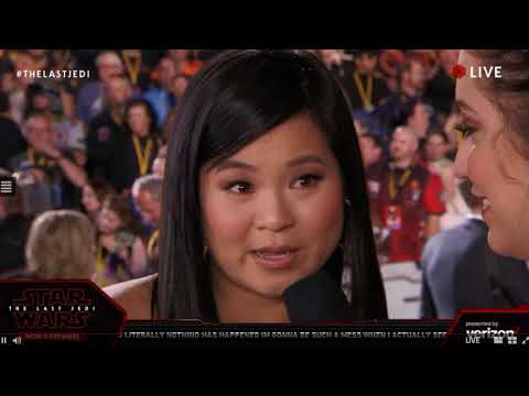 Kelly Marie Tran Rose interview - Star Wars The Last Jedi Red Carpet World Premiere