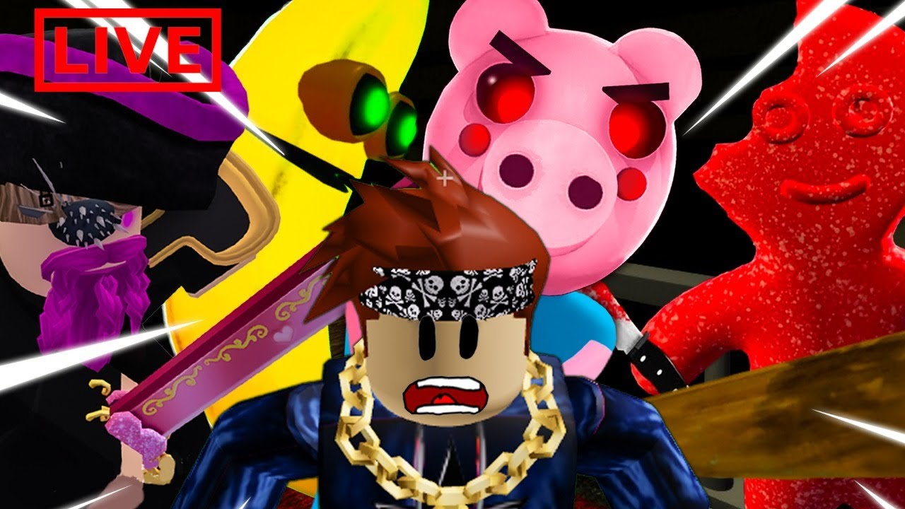 PLAYING THE SCARIEST GAMES ON ROBLOX WITH FANS! PIGGY IMPOSTER