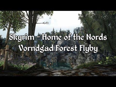Skyrim - Vorndgad Forest Flyby - A Morrowind Mod