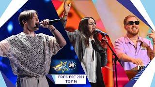 Free European Song Contest 2021 Top 16 #FreeESC