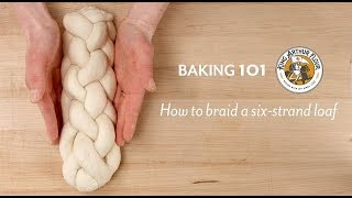 How to braid a six strand loaf