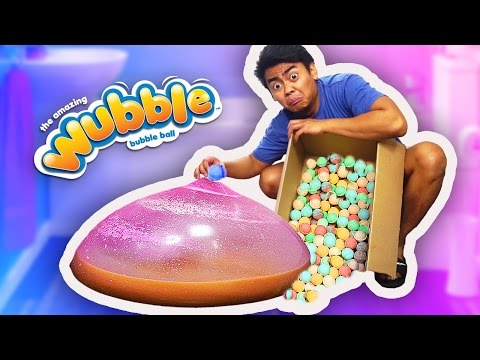 WUBBLE BUBBLE 100 BATH BOMBS EXPERIMENT!