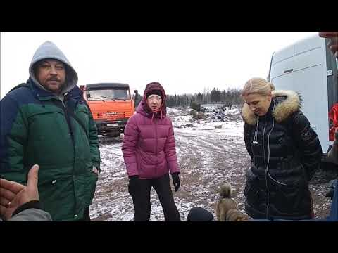 В Поварово активисты прорвались на стройплощадку мусорного полигона