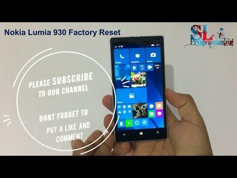 Nokia Lumia 930 Factory Reset