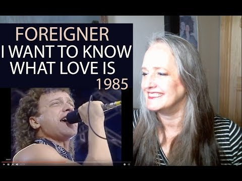 Voice Teacher Reaction To Foreigner I Want To Know What Love Is  - Farm Aid 1985