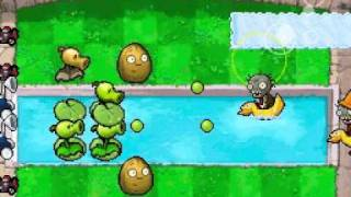 Plants vs Zombies DS: Heat Wave Gameplay