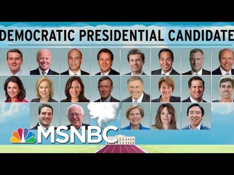 Democratic 2020 Field Shrinks By One, Warren Money Haul Surprises | Rachel Maddow | MSNBC