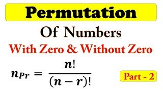Permutation of Numbers with and without Zero Part-2 || Easy Math Sort Trick in Hindi