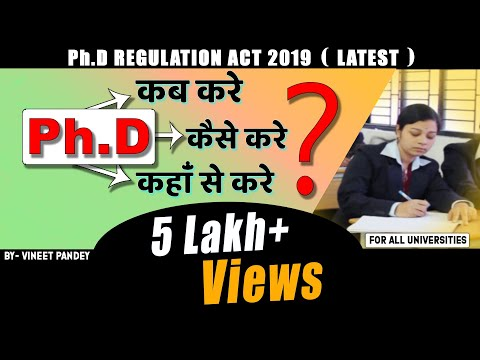 """""""NEW REGULATIONS AND GUIDELINES 2019"""" of UGC for PHD from TOP INDIAN UNIVERSITIES (LATEST RULE 2019)"""