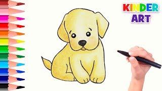 Как нарисовать милого щенка поэтапно | How to draw a cute puppy
