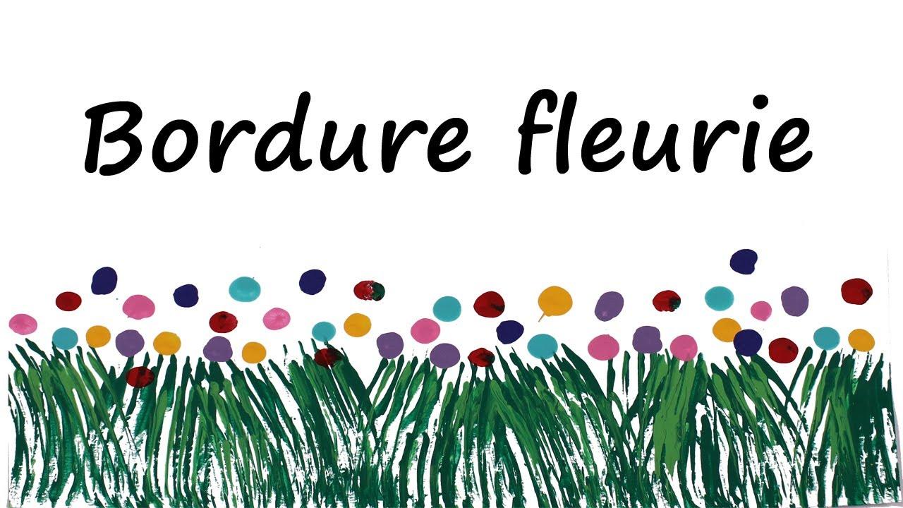 D coration de classe bordure fleurie youtube for Decoration porte classe etoile
