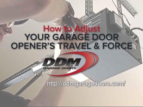 How to Adjust Your Garage Door Opener's Travel and Force