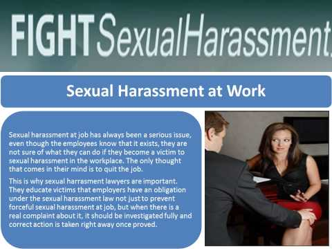 Fight Sexual Harassment California Employment Lawyers